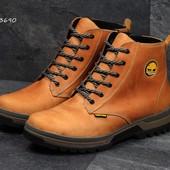 Ботинки зимние кожаные Timberland dark brown