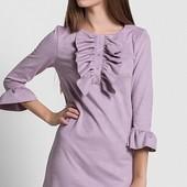 Размеры 42-48 Стильное женское замшевое платье
