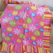 Флисовое детское одеяло - плед  для девочки