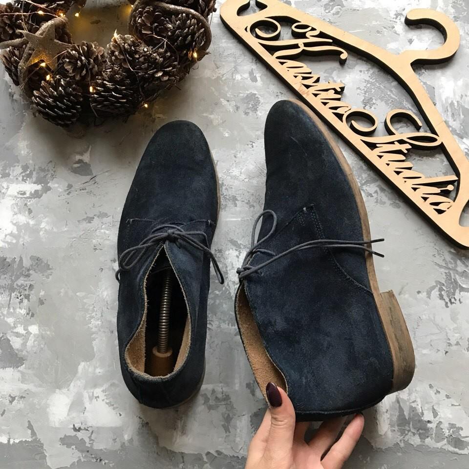 Стильные замшевые ботинки river island,р-р 44-45 фото №1