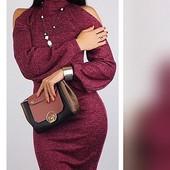 Элегантное женское ангоровое платье