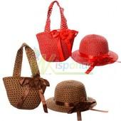 Набор пляжный сумочка X11549 имеет размеры 18,5-21,5 см