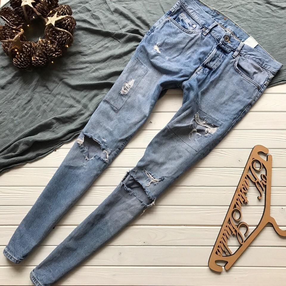 Мужские рваные джинсы скинни рр С-М фото №1