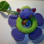 Развивающая игрушка-погремушка, грызунок на бампер коляски, кроватки Овечка, ELC