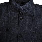 Мужское пальто шерстяное серое с вкраплениями в узорчик River Island s eur 2