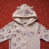 3 года Флисовый человечек-пижама Hello Kitty, Next, б/у.