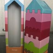 Пирамида, пірамідка дерево, піраміда деревянные игрушки cubika