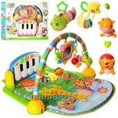 Коврик - пианино для младенца PA318  музыка, подвески игрушки, прорезыватель