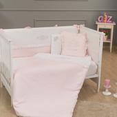 Комплект постельного белья Princess (7 предметов) Funna Baby 5101 Турция бело-розовый 12126043