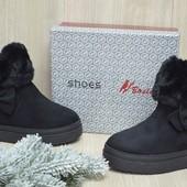 Женские зимние ботинки слипоны Угги