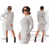 Стильное платье ангора хомут