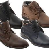Мужские зимние кожание ботинки