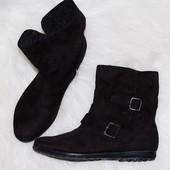 Ботинки George 38 р-р 24.2см осенние черные