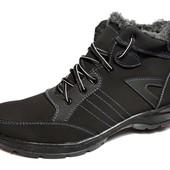 Зимние мужские ботинки из нубука 40 Размера (МБ-031)