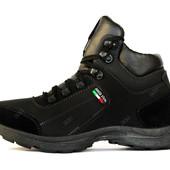Зимние мужские кроссовки на меху высокого качества (Л-252ч)