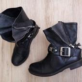 Кожа,мех/Франция san marina Оригинал ботинки сапоги 36-37р/23см