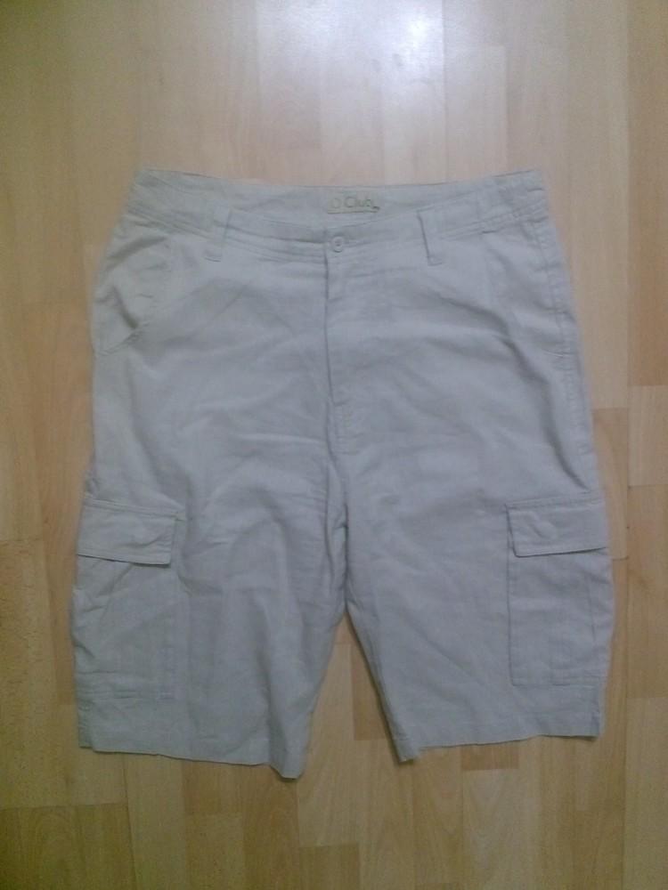 Фирменные шорты лен+хлопок 32 р. фото №1