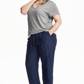 H&M+ Брюки из смесового льна, штаны 4XL