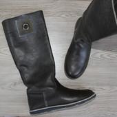 38 24см gaastra кожаные сапоги высокие