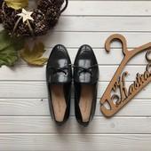 Новые шикарные туфли лоферы M&S Autograph рр 39