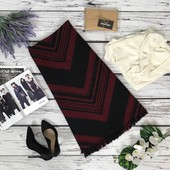 Теплая юбка-трапеция Forever 21 с бахромой и контрастным принтом  KI47160