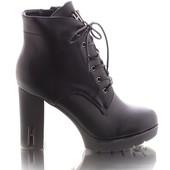Женские ботинки на каблуке  в наличии  новые  40 р