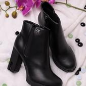 Женские ботинки на каблуке  в наличии  новые  35 37 р