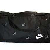 Сумка спортивная в стиле Nike черного цвета (Д-19)