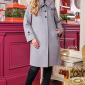 Размеры 48-58 Зимнее женское элегантное пальто с мехом