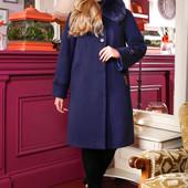 Размеры 48-58 Зимнее женское кашемировое пальто