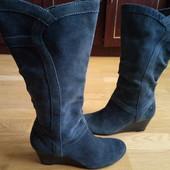 Esprit Утеплені чоботи із нат.замші 38 р-р і устілка 24 см.