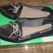 Фирменные Footglove кожаные туфли мокасины на 39 размер