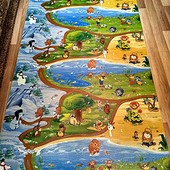 Каремат, развивающий коврик Киндер пол или Мадагаскар 1,2*2м. толщ.8мм.