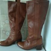 Стильные кожаные сапоги 23.5см