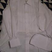 Рубашка нарядная,под запонки,р.17(по вороту-43см),наш-54-56.Состояние новой.