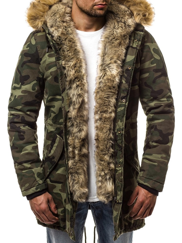 7b4c8efcff0a Мужская молодежная зимняя парка в стиле милитари,камуфляжная стильная мужская  куртка парка фото №1