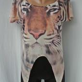 Стильная фирменная футболка с тигром  Denim Co. размер UK 10/M.