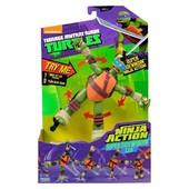 Завідні рухомі фігурки Черепашки Ніндзя Ninja Action від фірми Playmates