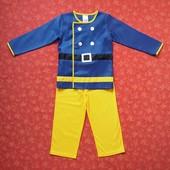 Продаю! 6-7 лет Карнавальный костюм Пожарный Сэм, б/у. Хорошее состояние, но есть слабые пятнышки -