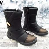 Теплые удобные зимние ботинки на молнии Низкий ход