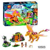 Бела Феи 10503 конструктор Bela Fairy Пещера с лавой огненного дракона