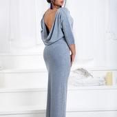 Размеры 42-56 Элегантное женское нарядное платье