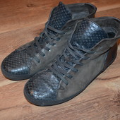 Стильные кожаные кеды 41 р., 27.5 см