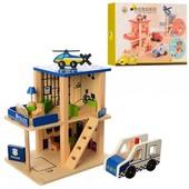 Деревянная игрушка Гараж MD 1059 Полиция или Пажарная