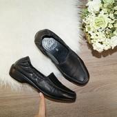 (38р./25см) Caprice! Кожа! Комфортные туфли на низком ходу c декоративной строчкой