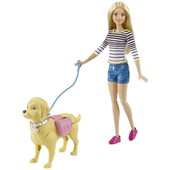 Барби прогулка с собачкой Barbie кукла