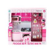 Мебель для кукол, кухня с посудой (818-7)