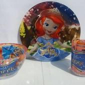 Набор детской посуды София прекрасная 3 предмета