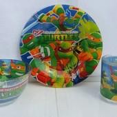 Набор детской посуды Черепашки Нинзя 3 предмета