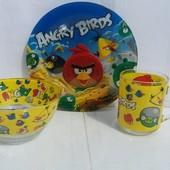 Набор детской посуды Энгри Бердс 3 предмета